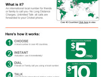 Cricket Email: Global Local Numbers